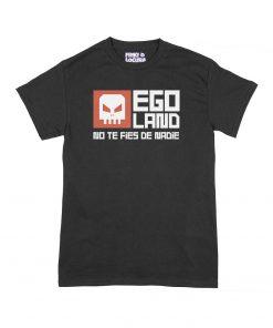 Camiseta Egoland negro Friki Locura