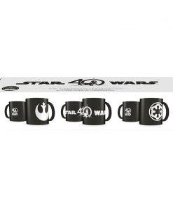 40 Aniversario Star Wars Set Deluxe 3 Tazas Grabado Láser Cerámica