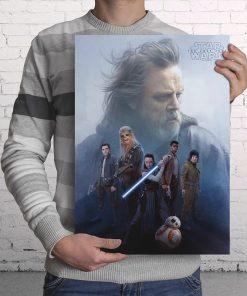 Póster de Vidrio Grupo Resistencia Star Wars Ep VIII