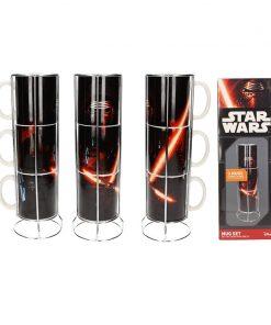 Set 3 Tazas apilables cerámica Kylo Sable Star Wars Ep7