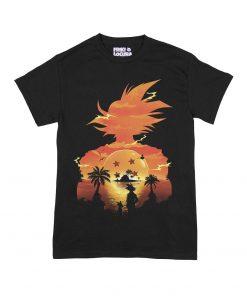 Camiseta Silueta Dragon Ball Goku