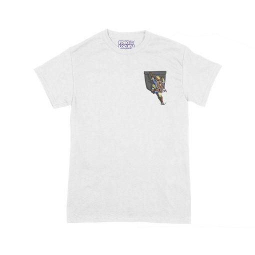 Camiseta Zelda BOTW Bolsillo blanca