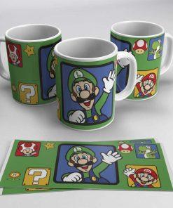 Taza Super Mario Luigi